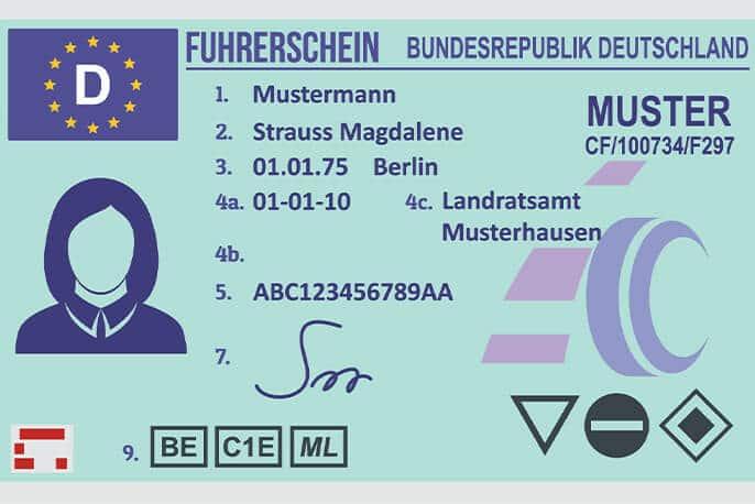 Führerschein Muster