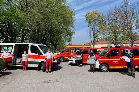 Maskenproduktion 2 Quelle Feuerwehr Kreisbrandinspektion 450 - COVID-19