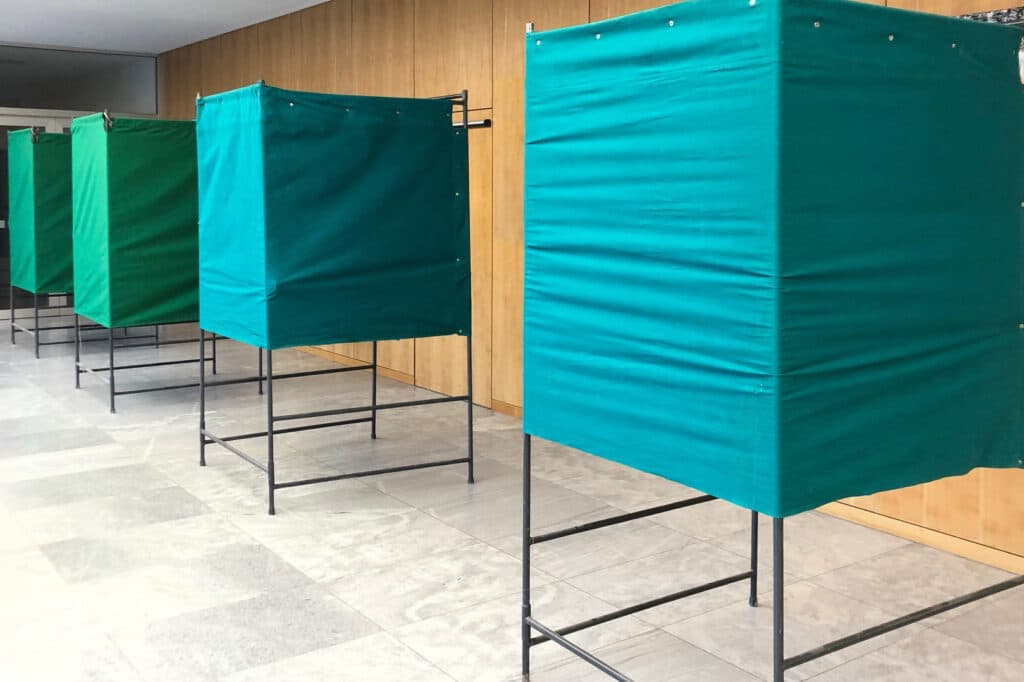 Wahlkabinen © Pressestelle Landratsamt Rosenheim