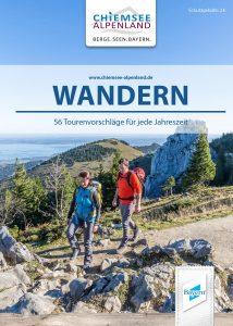Titelseite der Broschüre Wandern von Chiemsee Alpenland Tourismus