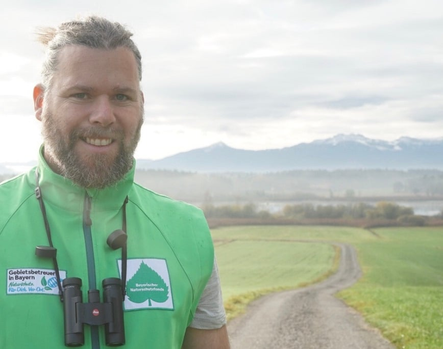 """Patrick Guderitz, Gebietsbetreuer der """"Eggstätt Hemhofer Seenplatte und Seeoner Seen"""""""