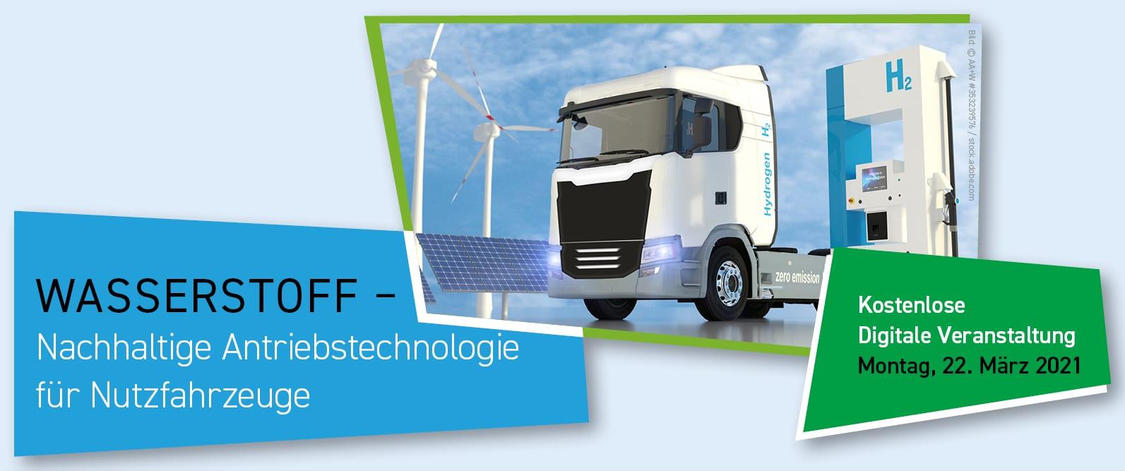 Wasserstoff h2 - nachhaltige Antriebstechnologie für Nutzfahrzeuge