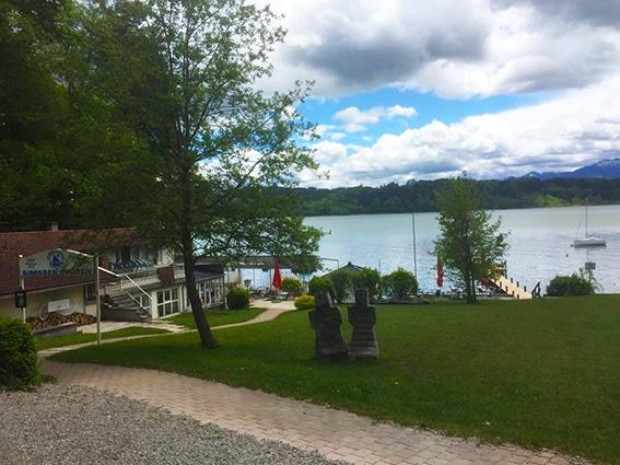 Simssee, Badestelle bei der Trattoria, Söchtenau, Bildrechte: René Engel