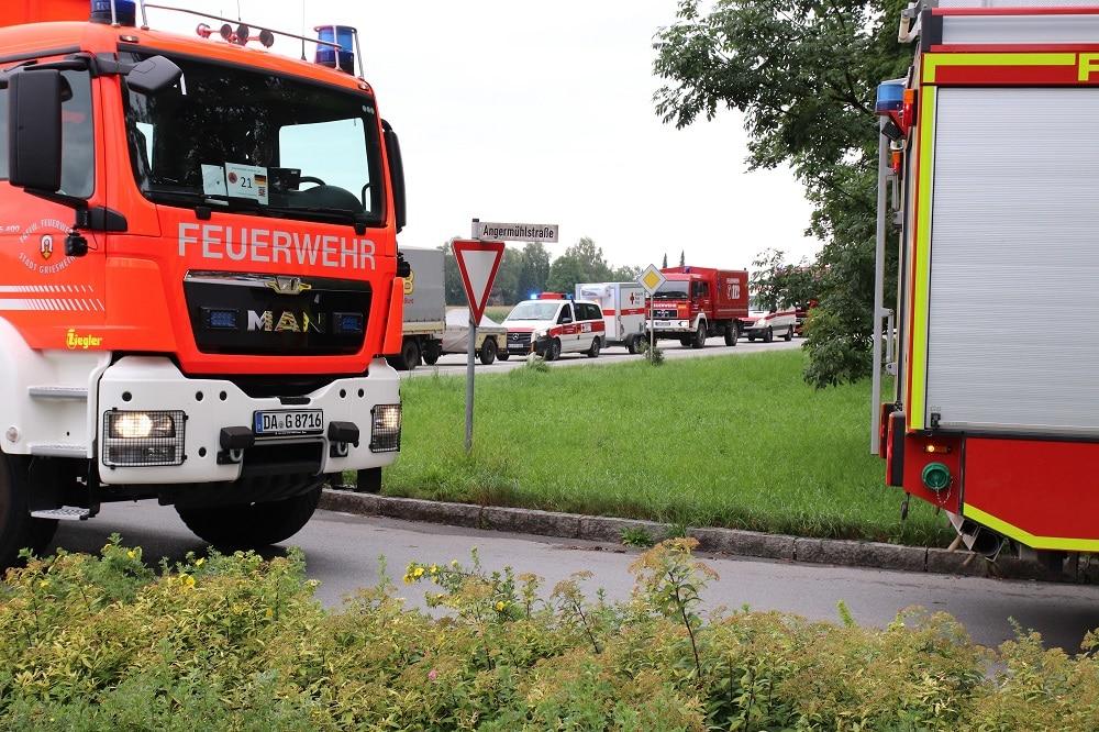 Ankunft der Feuerwehr aus Hessen